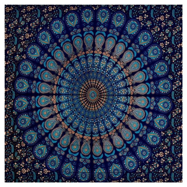 Blue Mandala Tapestries