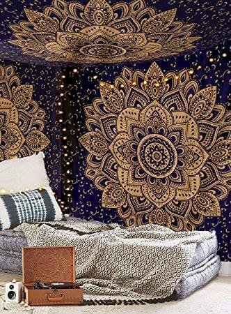 Double Color Ombre Mandala Tapestry
