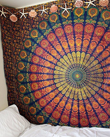 Multicolor Twin Hippie Tapestry