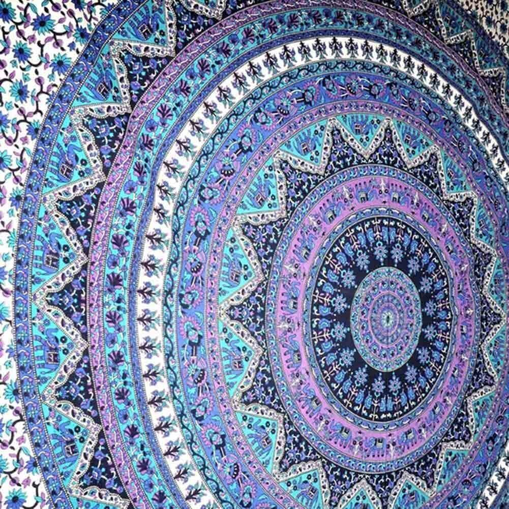 elephant purple tapestries