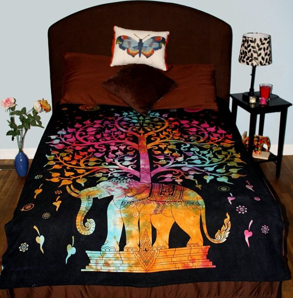 elephant tapestries bedspread