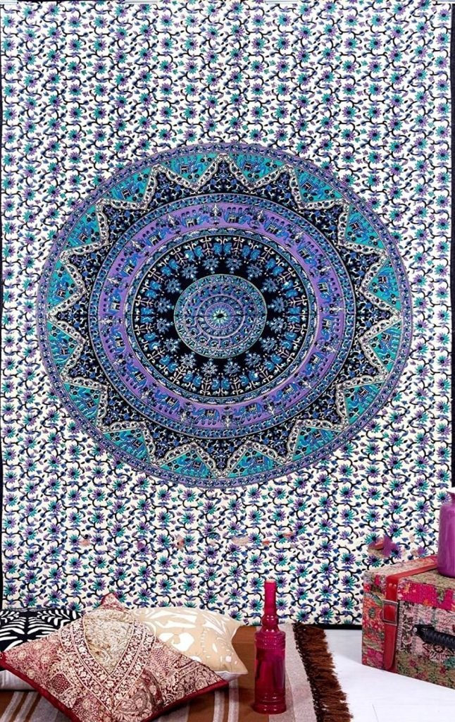 purple mandala tapestries